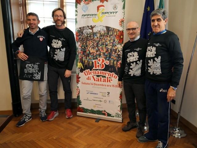 Presentato il 13° allenamento di Natale Affari&Sport