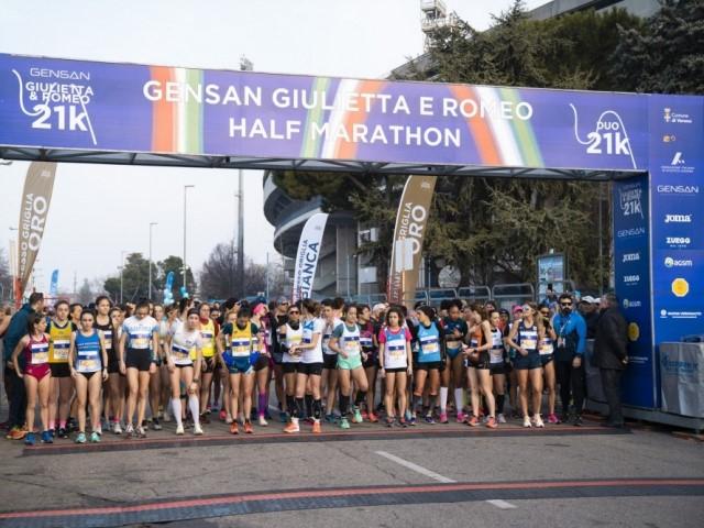 Misurato il percorso Giulietta&Romeo Half Marathon, si arriva dentro allo Stadio Bentegodi