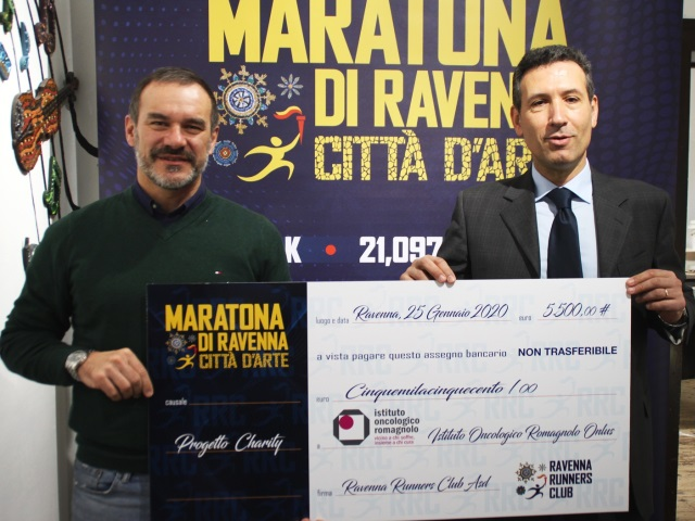Da Maratona di Ravenna 5.500 euro a favore del servizio d'accompagnamento gratuito dello IOR