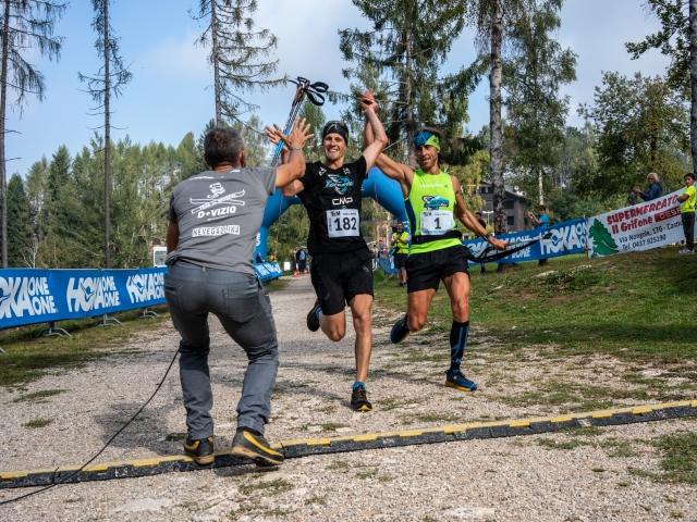 Daniele Meneghel e Gianpietro Barattin vincono insieme al Trail del Nevegal
